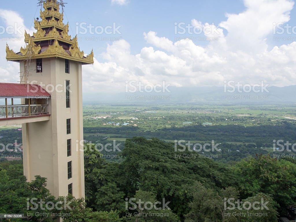 landscape Sutaungpyae Paya, Mandalay, Myanmar stock photo