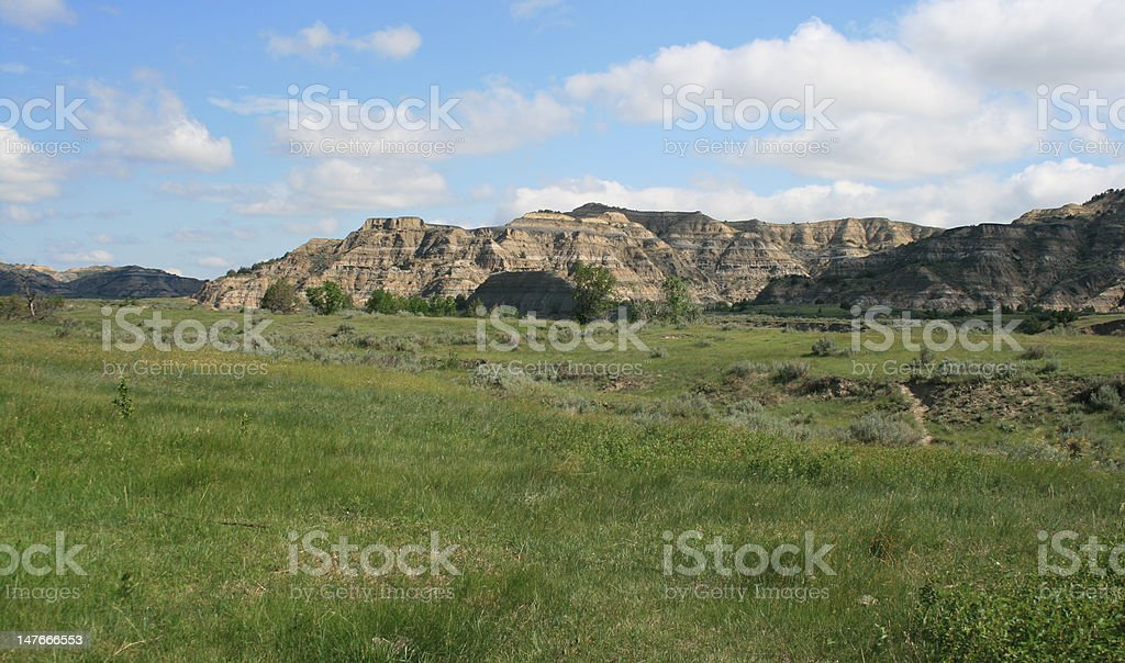 Landscape, Theodore Roosevelt National Park royalty-free stock photo