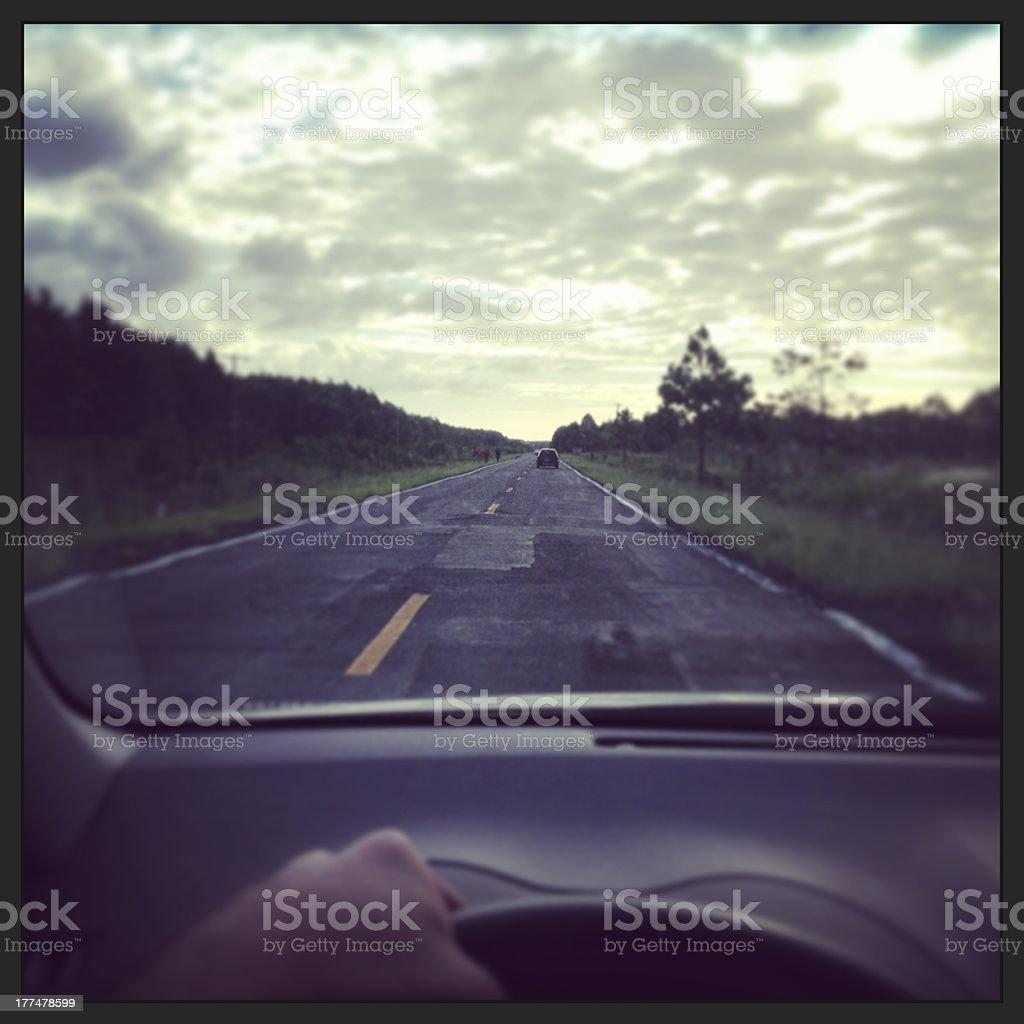 Landscape Through a Car Window royalty-free stock photo