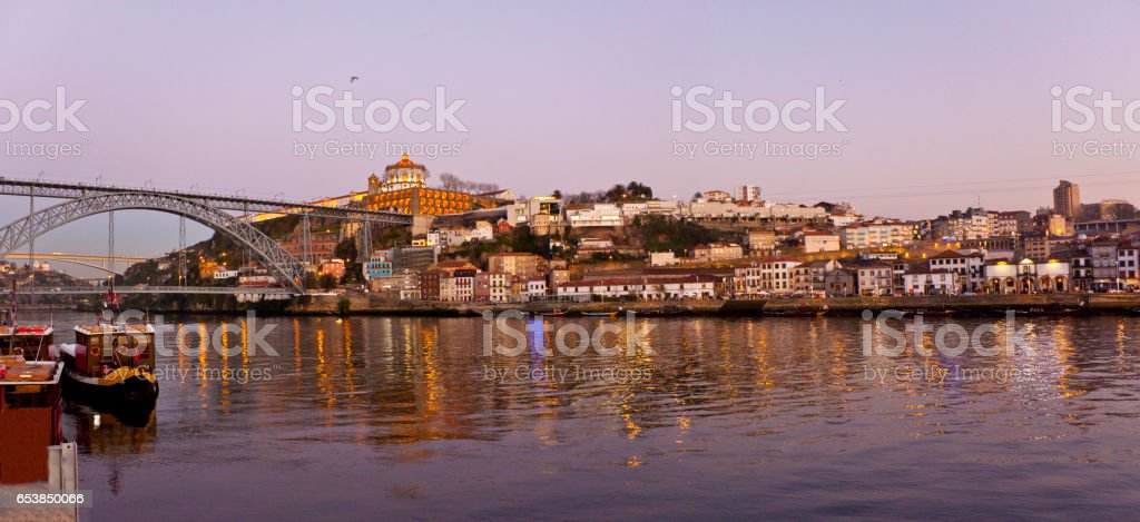 Landscape to Vila Nova de Gaia stock photo