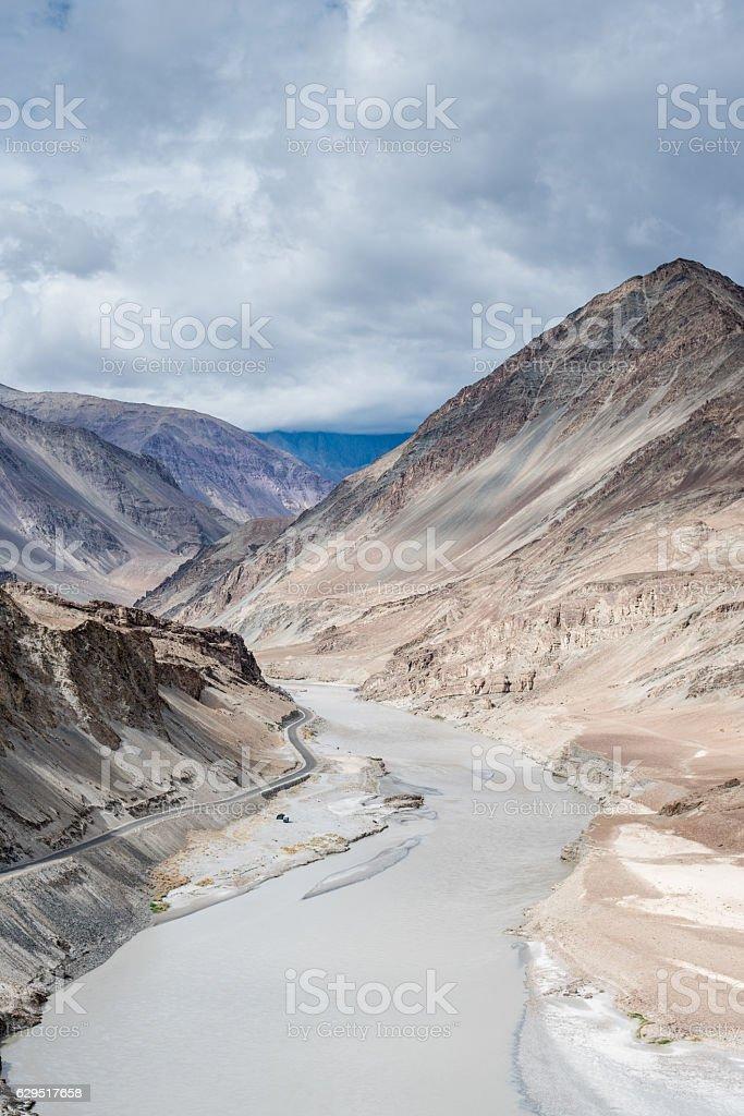 Landscape view at Leh Ladakh, India stock photo