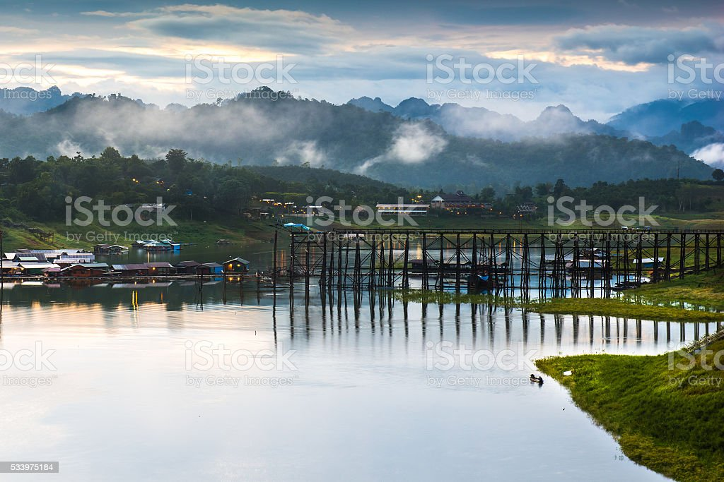 Landscape view at morning. stock photo