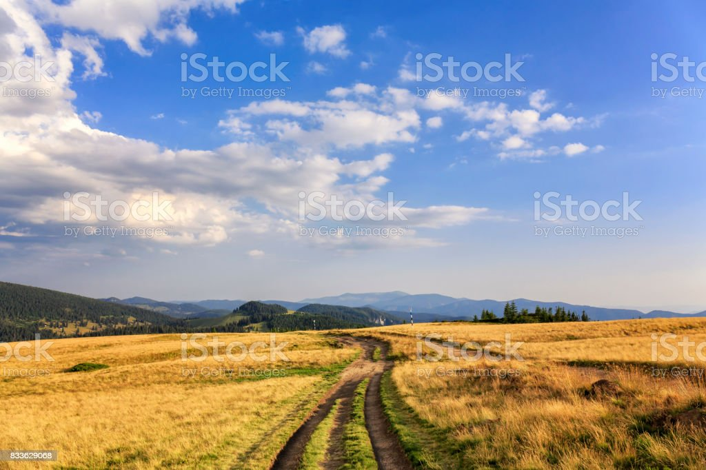 Landscape view at Padis in the Apuseni mountains of Transylvania stock photo
