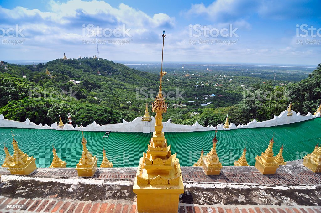 Landscape View from Mandalay Hill, Myanmar stock photo