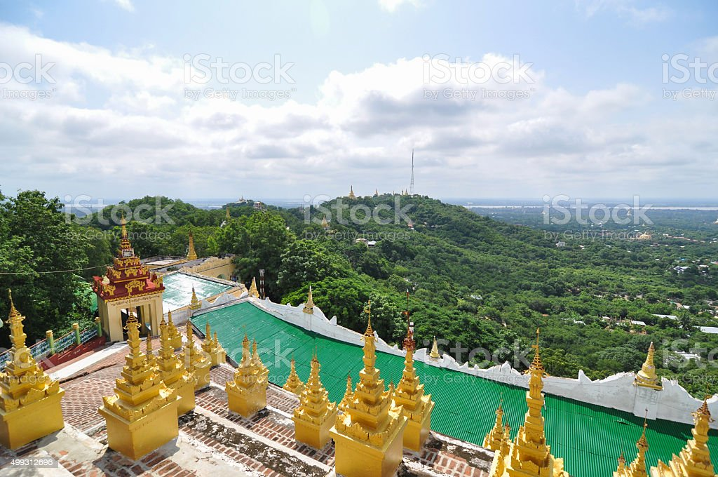 Landscape View from Mandalay Hill stock photo