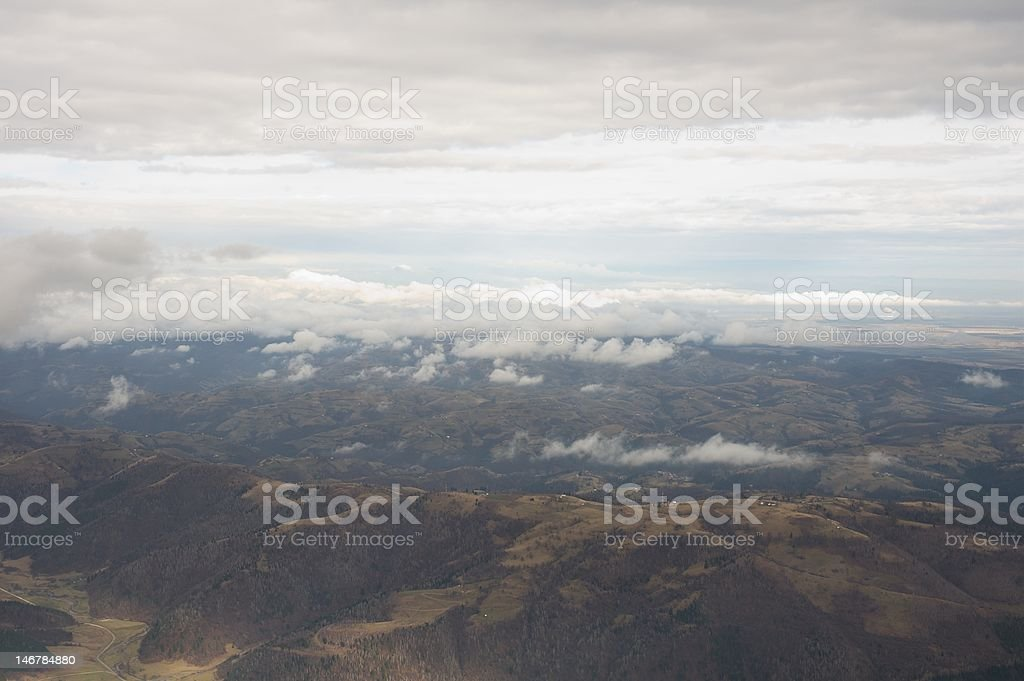 Landscape view from the mountain top royalty-free stock photo