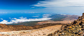 Landscape view from the top of volcano Teide