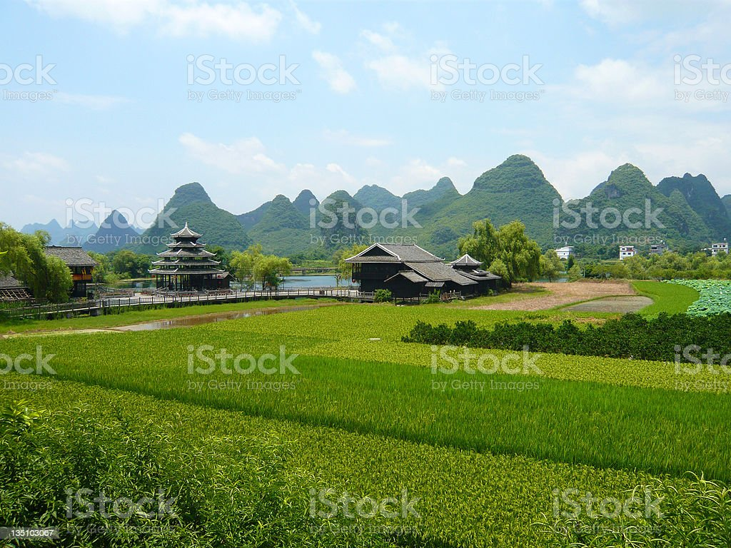 Landscape View in Guilin, China stock photo