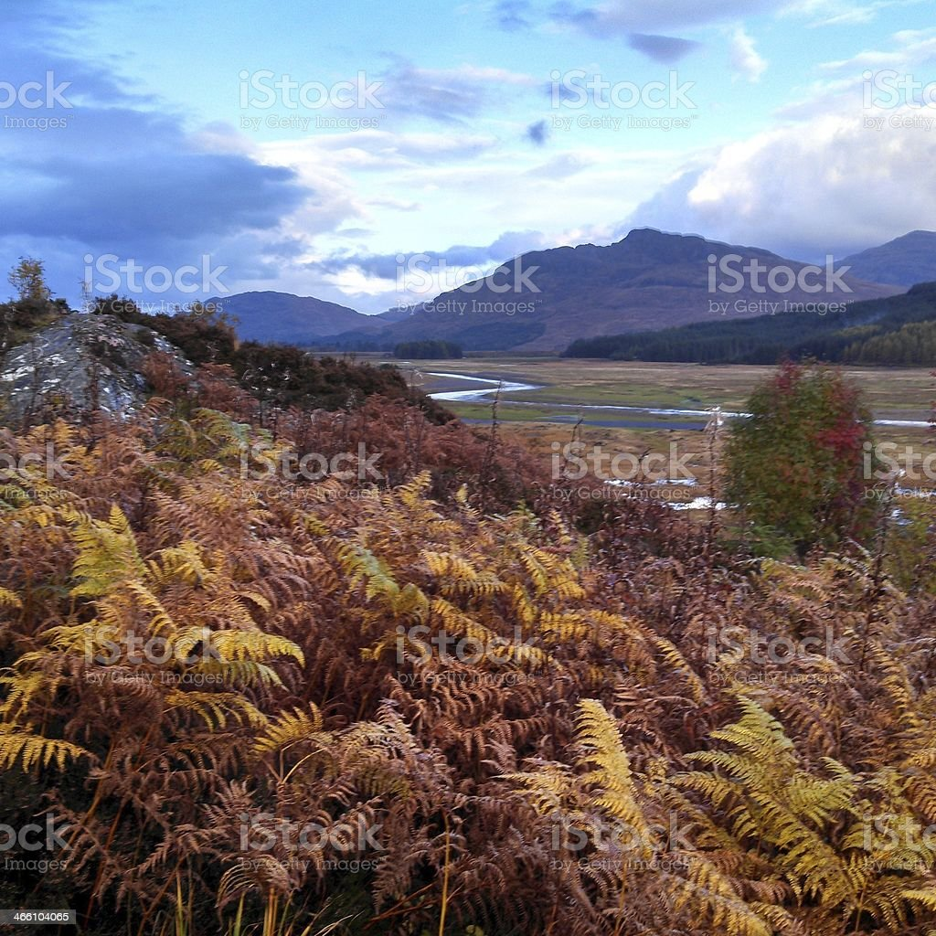 Landscape View in Scotland Highlands Cairngorms National Park stock photo