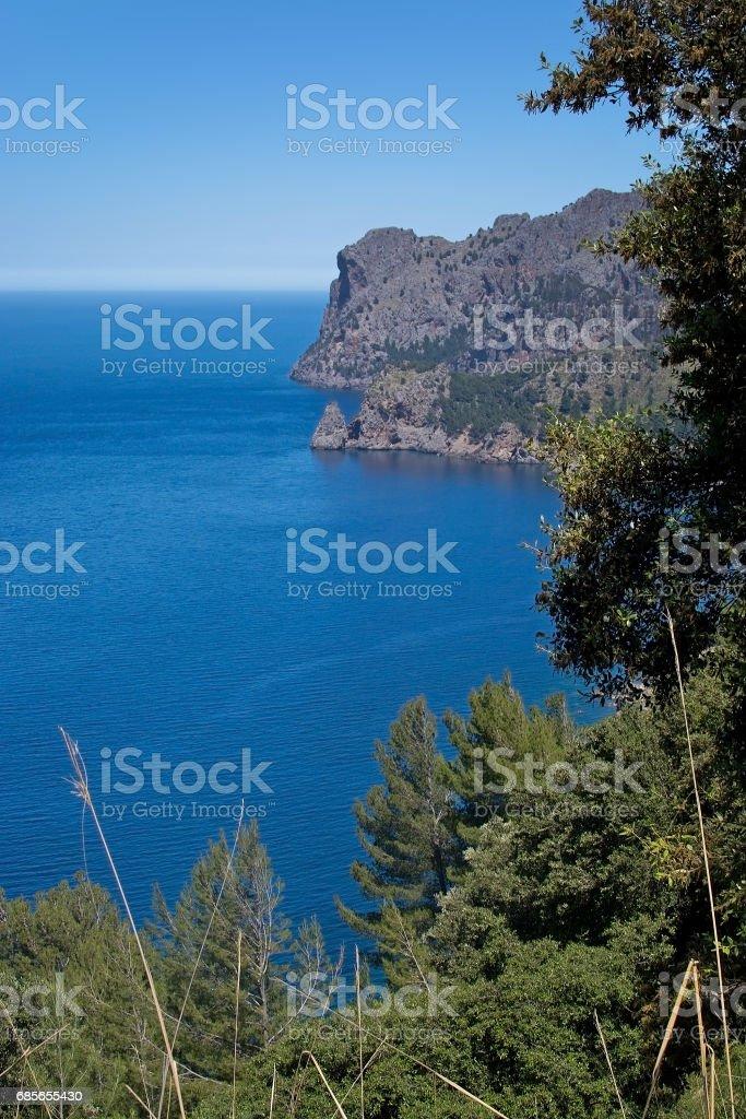 Landscape view Mallorca stock photo