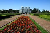 Landscape view of a garden in Curitiba, Brazil