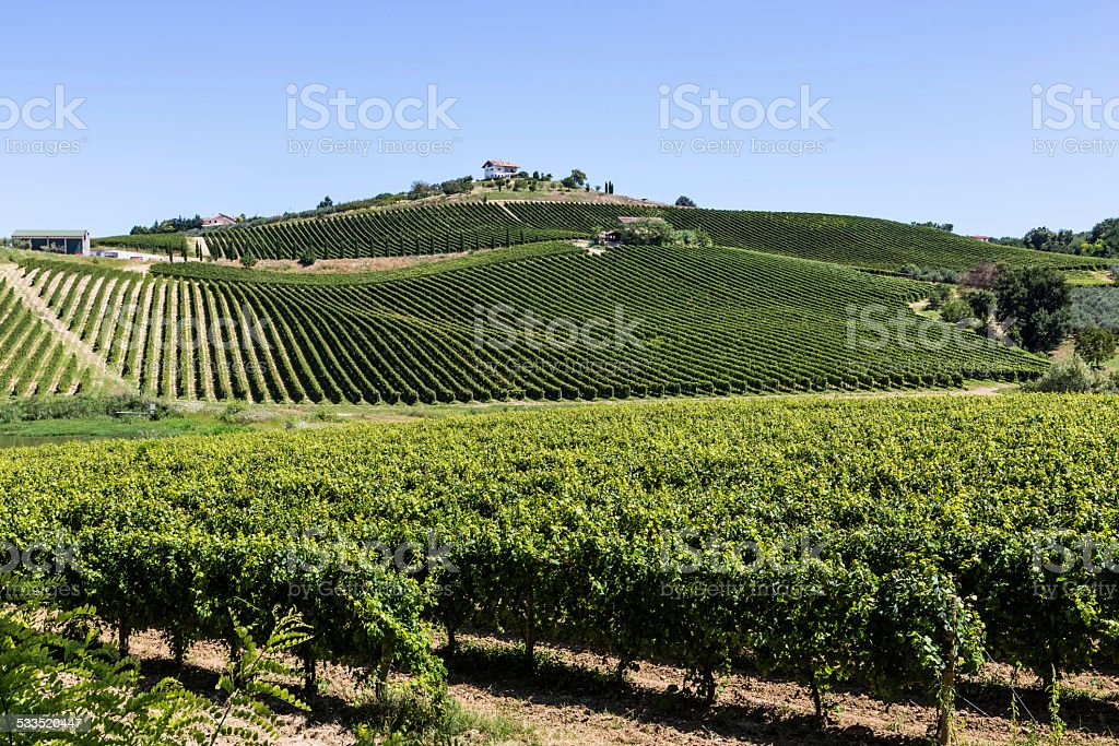 landscape view of Abruzzo, Italy stock photo