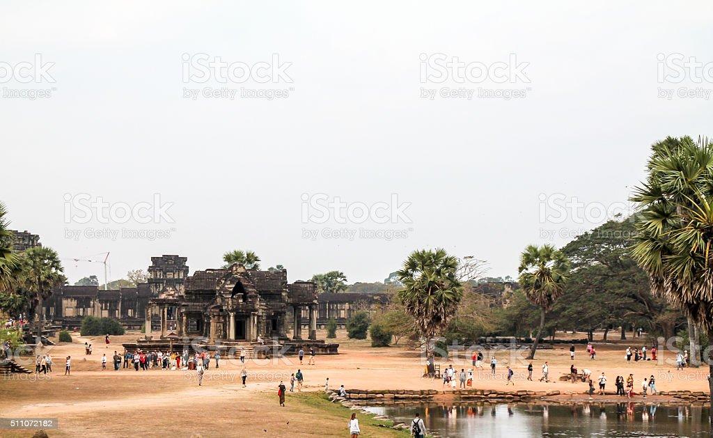 Vue sur le paysage d'Angkor Wat, Siem Récolter, Cambodge photo libre de droits