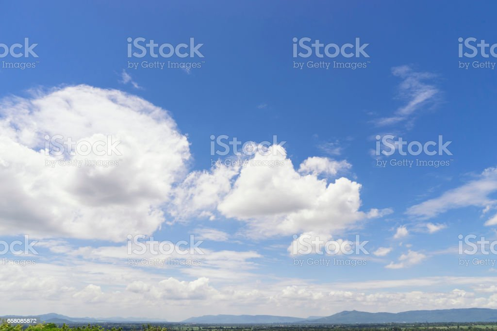 landscape view of cloud and blue sky montain stock photo