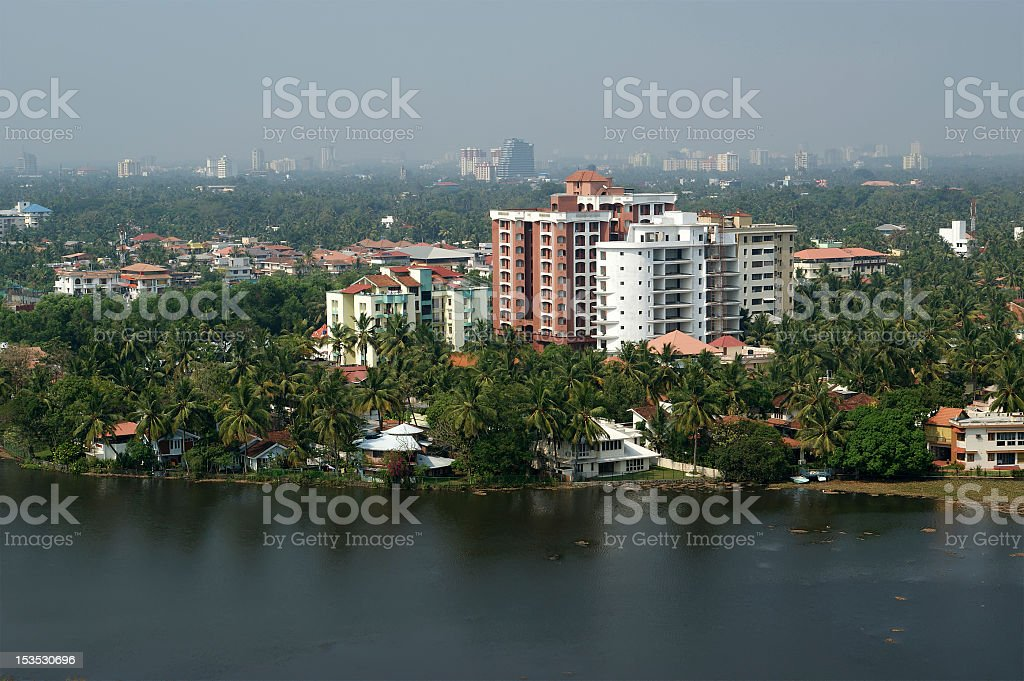 Landscape view of Cochin South India stock photo
