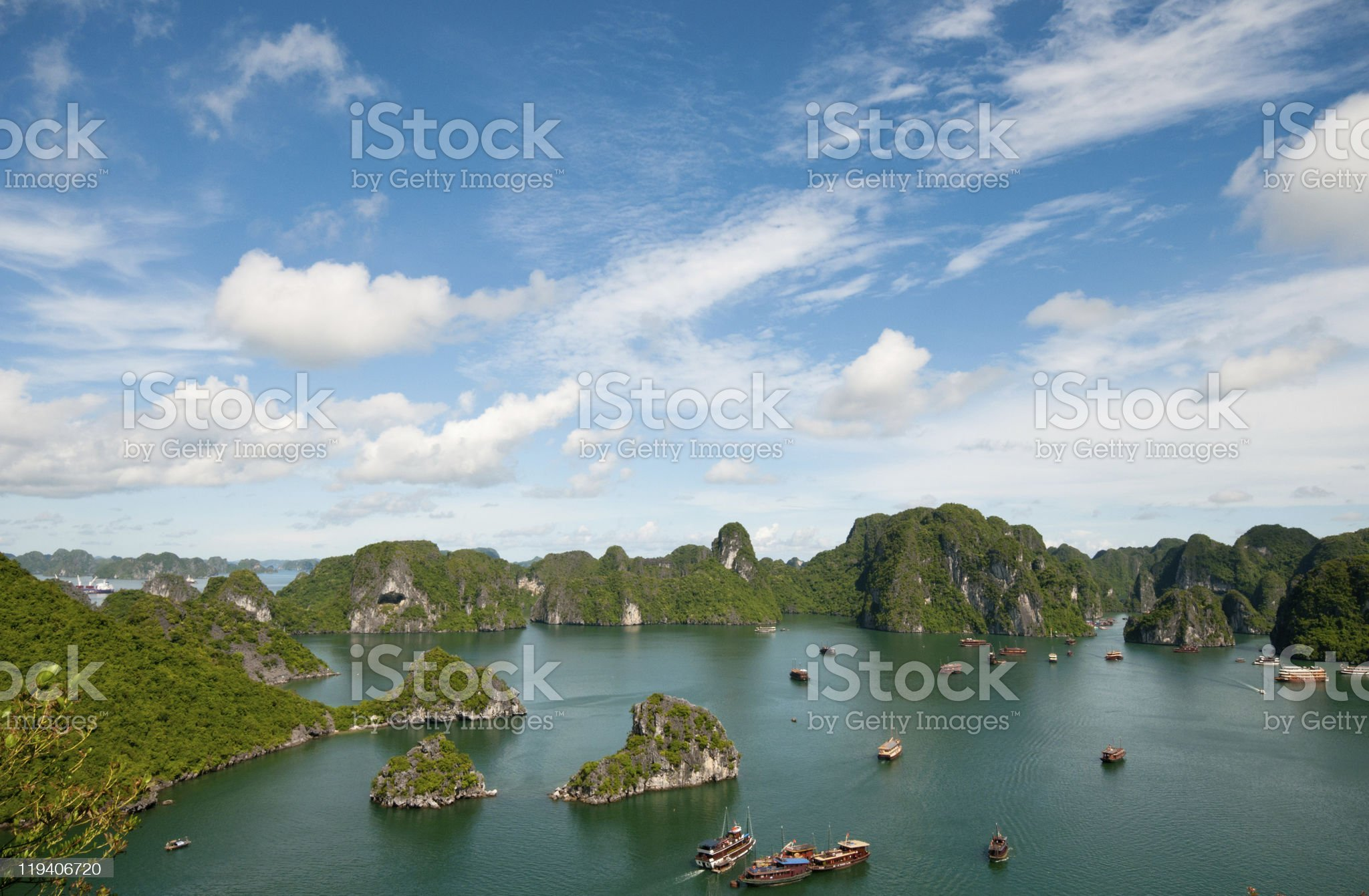 Landscape view of Halong Bay in Vietnam royalty-free stock photo