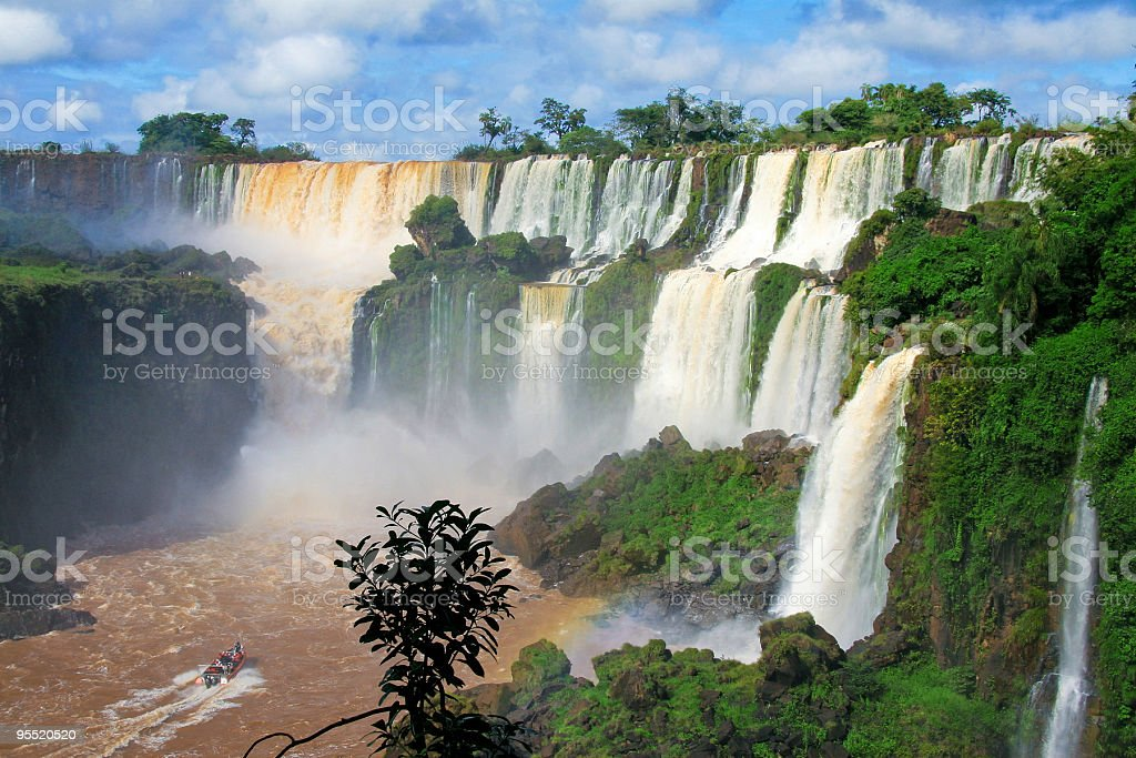 Landscape view of Iguazu falls in Argentina stock photo