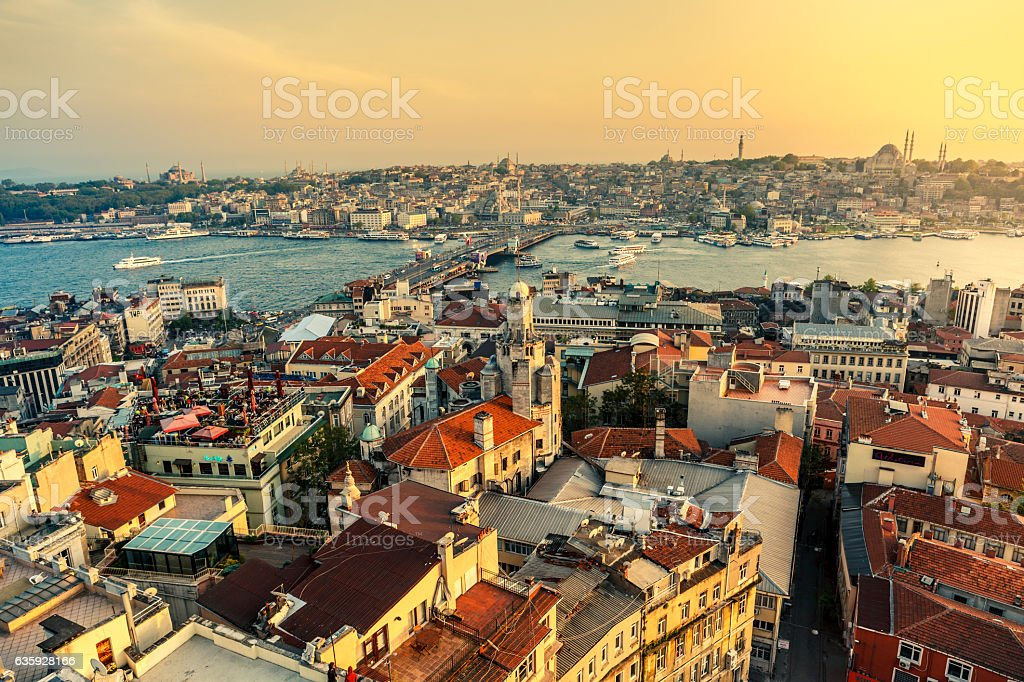 Landscape view of Istanbul, Turkey stock photo