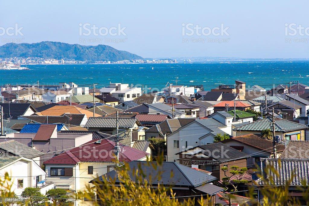 Landscape view of Kamakura town stock photo