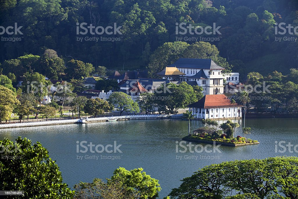 Landscape view of Kandy, Sri Lanka stock photo