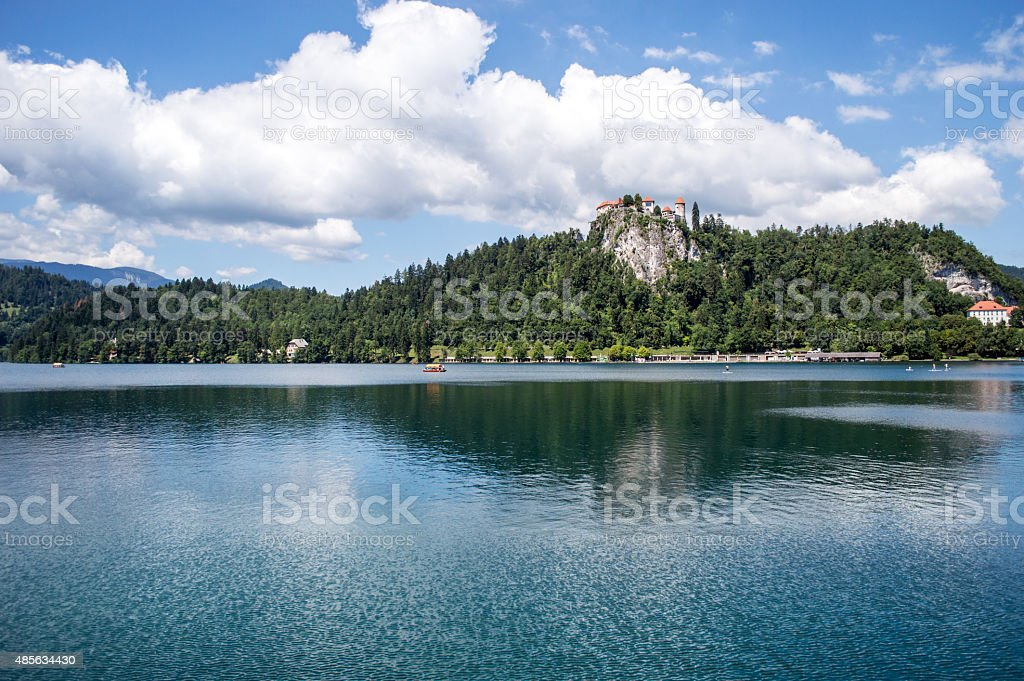 Landscape View of Lake Bled, Slovenia royalty-free stock photo