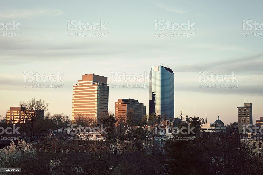 Landscape view of Lexington skyline stock photo