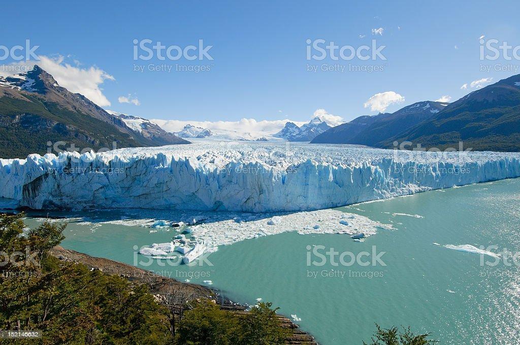 Landscape view of Perito Moreno Glacier Patagonia, Argentina stock photo