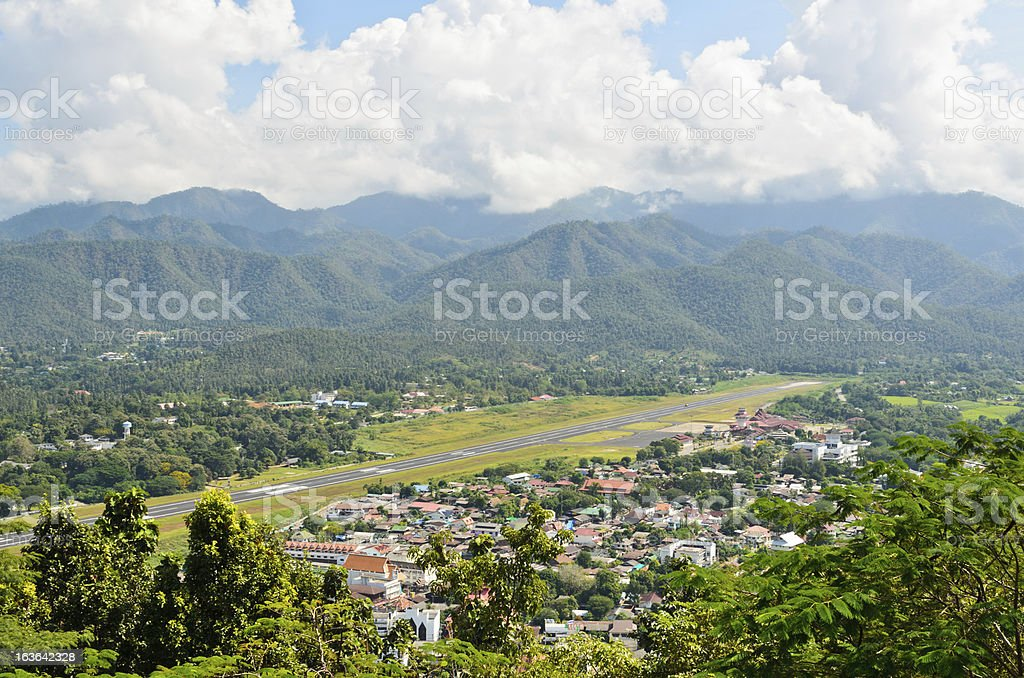 Landscape view of the city stock photo