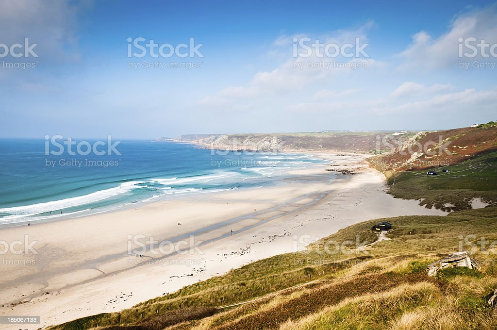 Landscape View Of The Coast In Cornwall, England stock photo