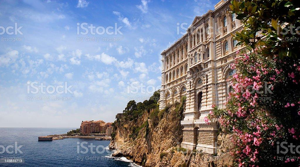 Landscape view of the coastline in Monaco stock photo