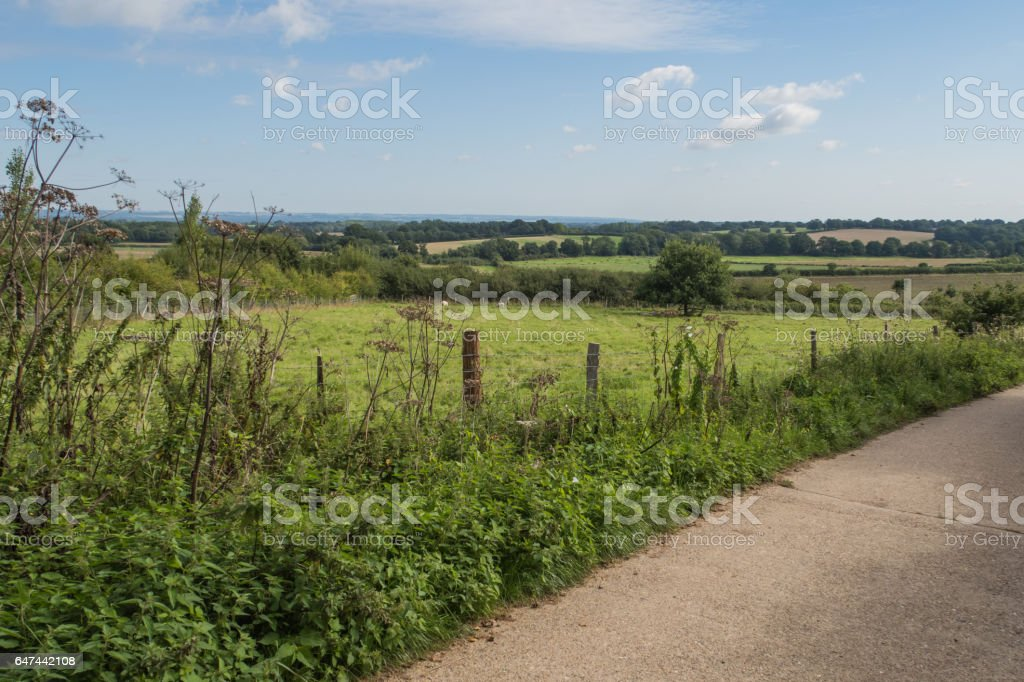 Landscape view of the countryside around Sissinghurst stock photo