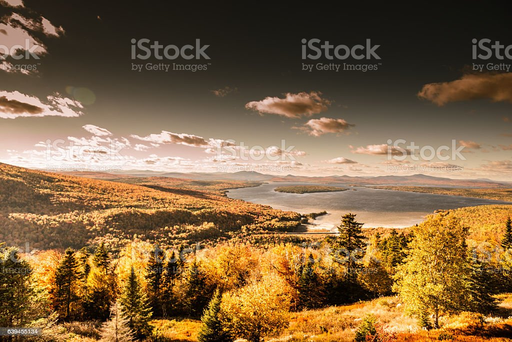 landscape view of the Maine in Usa stock photo