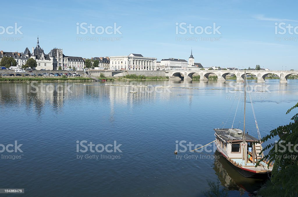 Landscape view of the Saumur commune in western France stock photo