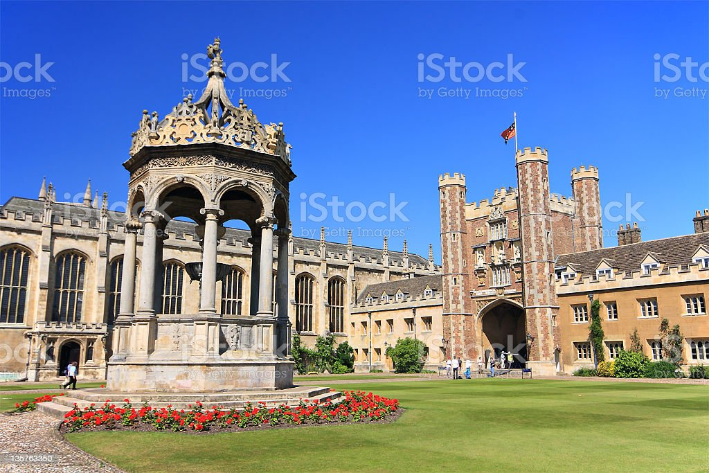 Landscape view of Trinity College stock photo
