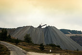 Landscape view over coper and coal mine.