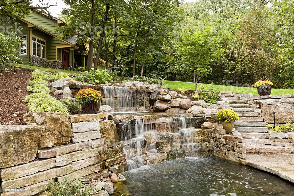 Landscape Waterfall royalty-free stock photo