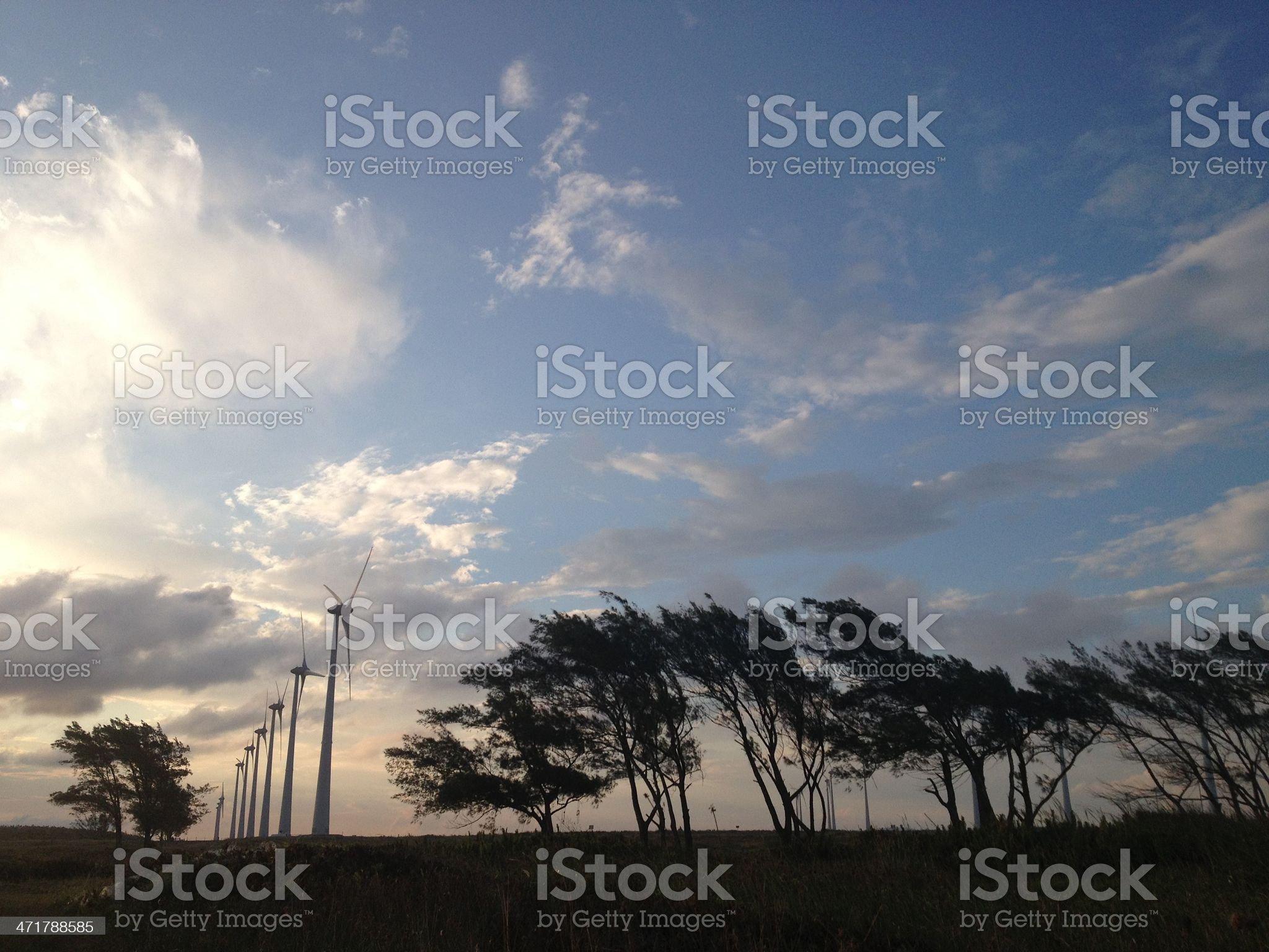 Landscape Wind Energy royalty-free stock photo