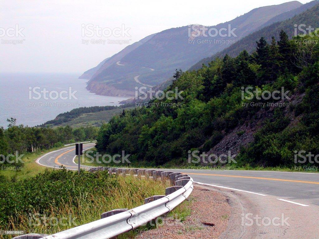 Landscape - Winding Road 02 royalty-free stock photo