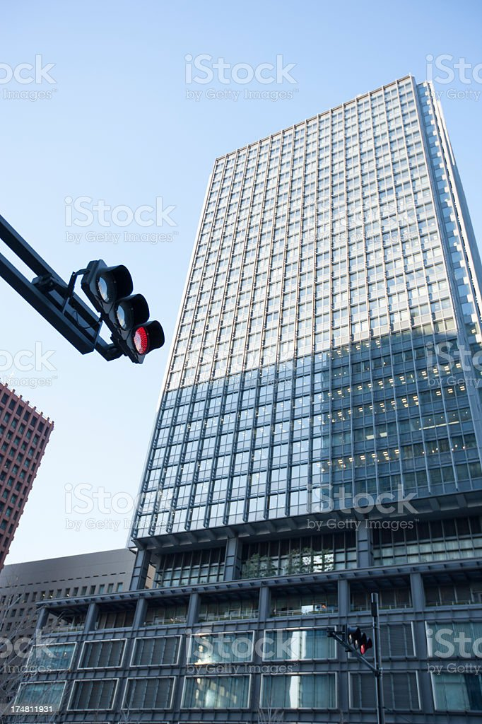 Landscape with a modern building in Tokyo. royalty-free stock photo