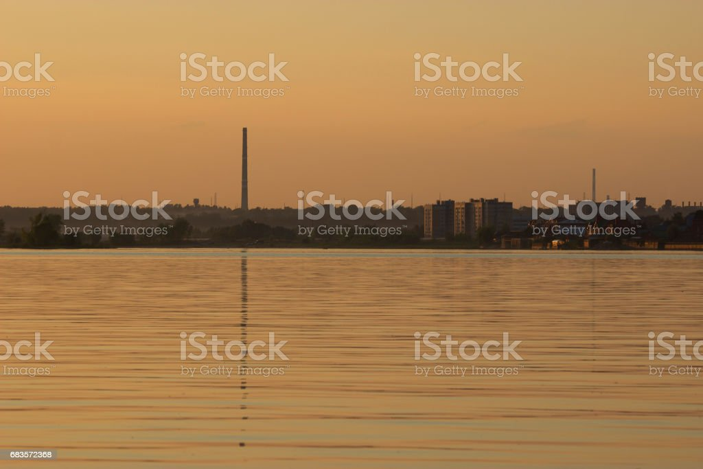 landscape with a pipe stock photo