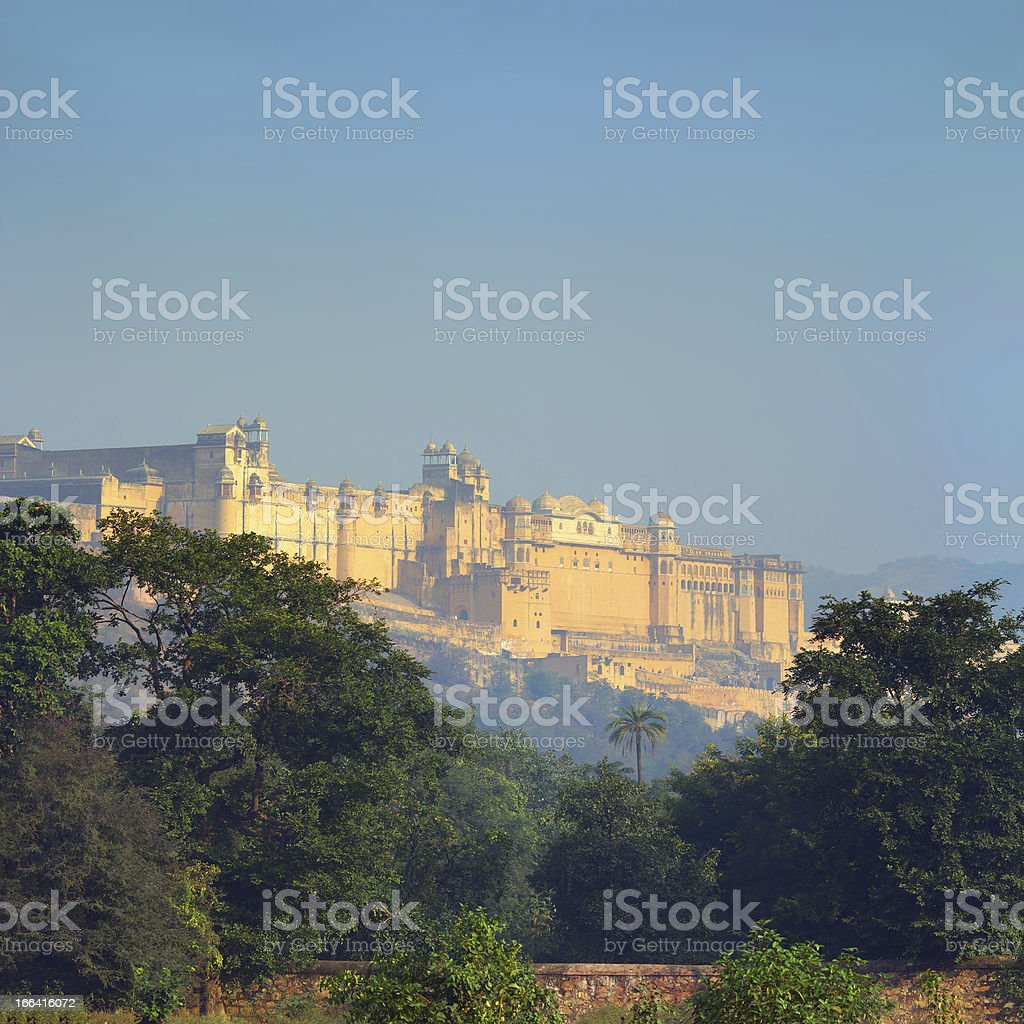 landscape with Amber fort in India royalty-free stock photo