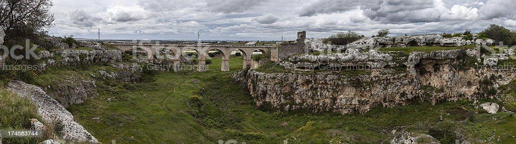 Landscape with bridge stock photo