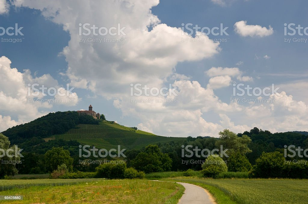 Landscape with Castle Lichtenberg royalty-free stock photo