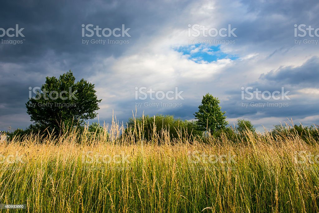 Landscape With Clouds stock photo