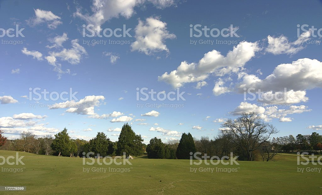 Landscape with Clouds - Wide Angle royalty-free stock photo