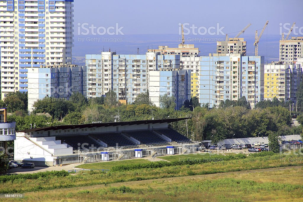 Landscape with construction site royalty-free stock photo