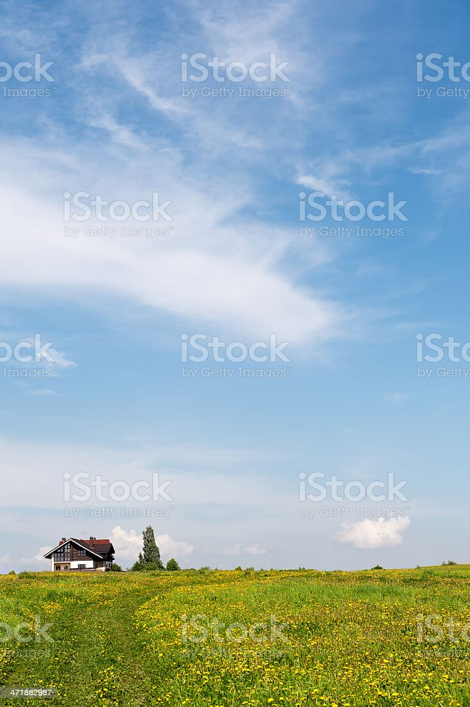 Landscape with Cottages royalty-free stock photo