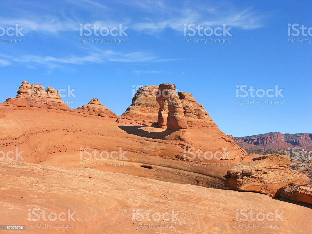 Landscape with Delicate Arch stock photo