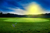 Landscape with golf course, Denmark