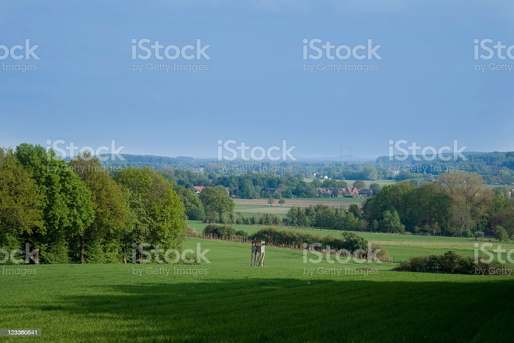 Landscape with high seat, very misty in the distance royalty-free stock photo